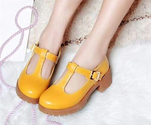 amarillo, shoes, and yellow image