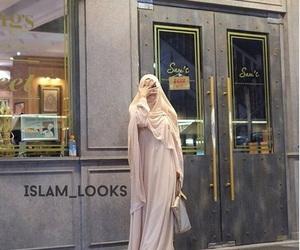 hijab, muslim girl, and khimar image