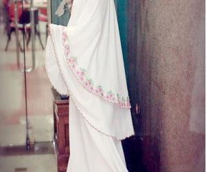 hijab, white, and muslim girl image