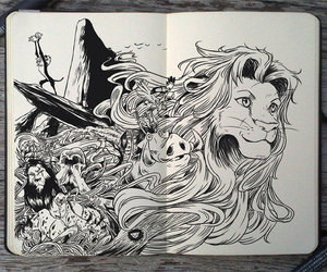 art, disney, and the lion king image
