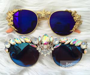 fashion, glasses, and gold image