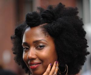 brown skin, texture, and afro hair image