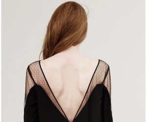 black clothes, redhead, and skin image