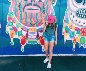 colors, graffiti, and coney island image