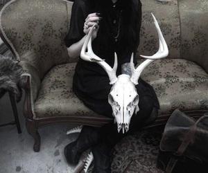 black, goth, and satan image