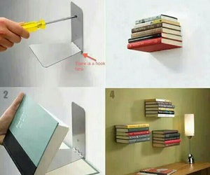 book, diy, and shelf image