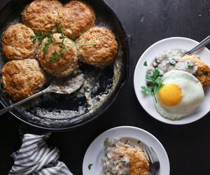 biscuit, breakfast, and egg image
