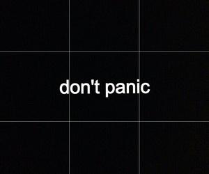panic, black, and grunge image