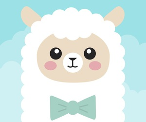 kawaii, cute, and alpaca image