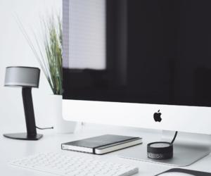 apple, black, and minimalist image