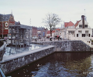 amsterdam, snow, and travel image