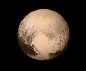 pluto, space, and heart image