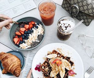 food, breakfast, and drinks image