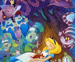 alice, disney, and wallpaper image