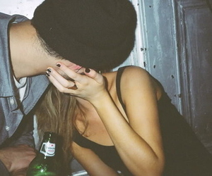 boy, drunk, and kiss image