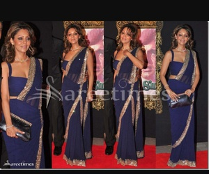 blue, clothes, and saree image