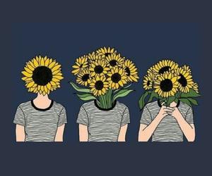 header, sunflower, and tumblr image