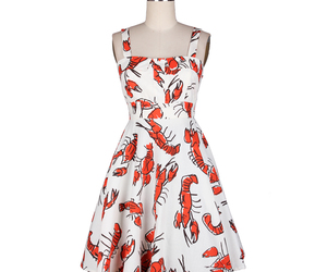 50s, dress, and lobster image