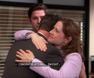 dwight schrute, pam beesly, and the office image