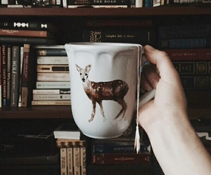 book, tea, and coffee image