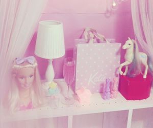 barbie, pink, and unicorn image