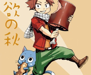 happy, natsu, and fairy tail image