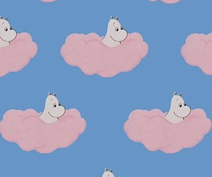 pink, moomin, and aesthetic image