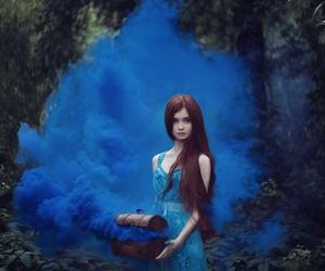 girl, blue, and magic image