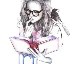 art, beautiful, and books image