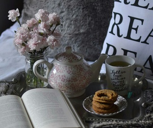 autumn, mug, and book image