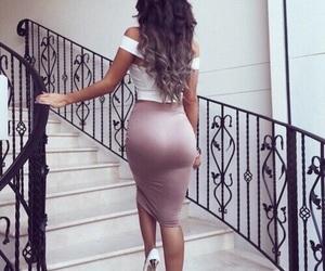 back, dress, and girl image