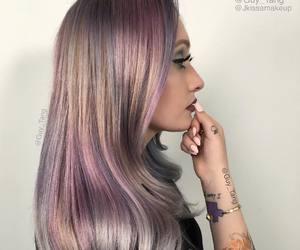 bangs, color, and dip dye image