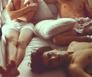beautiful, boys, and bed image