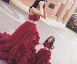 daughter, dress, and mom image