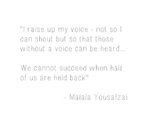 quote, words, and malala image