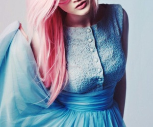 pink, hair, and dress image