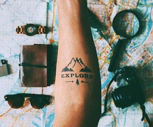 tattoo, explore, and map image