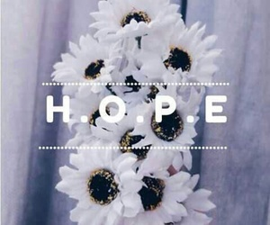 hope, flowers, and white image