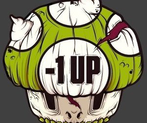 1Up, mario, and zombie image