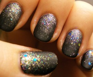 black, nail, and colorfull image