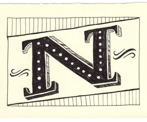 lettering, n, and typography image