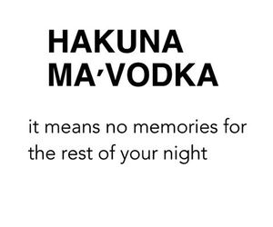 vodka, fun, and hakuna matata image