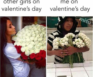 funny, Valentine's Day, and flowers image