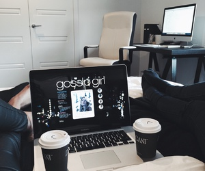 gossip girl, coffee, and black image