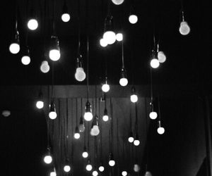 light, black and white, and black image