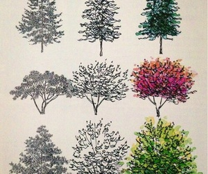 tree, drawing, and art image