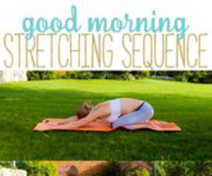 morning, workout, and stretches image