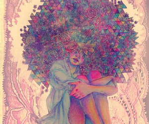 art, hair, and Afro image