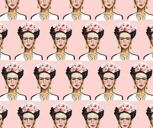 frida kahlo, mexican, and pink image