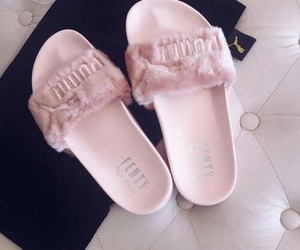 puma, pink, and shoes image